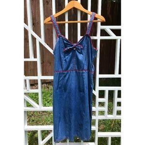 Vintage Denim Summer Dress   Mini Dress   M